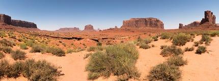 Panoramisch van Monumentenvallei, Utah, de V.S. stock afbeeldingen