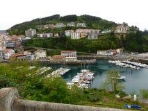 Panoramisch van Ondarroa, Biscaye, Spanje stock foto