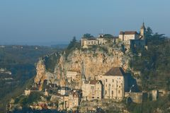 Panoramisch van Rocamadour Royalty-vrije Stock Foto's