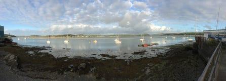 panoramisch van Rots at low tide stock afbeelding