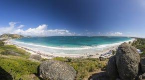 Panoramisch van Saint Martin, Sint Maarten: Caraïbische Stranden stock foto