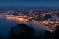 Panoramisch van San Sebastian stock afbeeldingen
