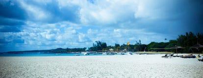 Panoramisch van strand Stock Afbeeldingen