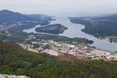 Panoramisch van Vila Nova de Cerveira stock foto's