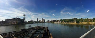 Panoramisch van Voorzienigheid, Rhode Island Stock Fotografie
