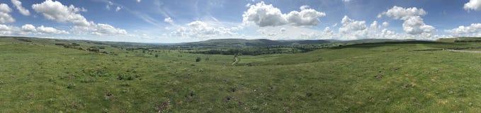 Panoramisch van Wensleydale Yorkshire Stock Foto's