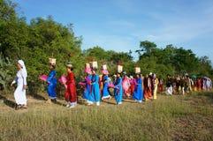 Panoramisch verbazen, Kate-festival, de traditionele cultuur van Cham royalty-vrije stock fotografie