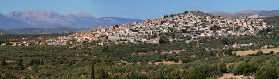 Panoramisch vom Dorf in Lakonia, Griechenland Stockbilder