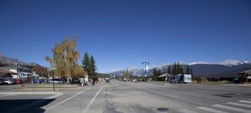Panoramisch vom im Stadtzentrum gelegenen Jaspis, Kanada stockfoto