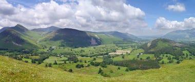 Panoramisch vom Newlands-Tal, See-Bezirk Lizenzfreie Stockfotos