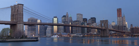 Panoramisch von Brooklyn stockbilder