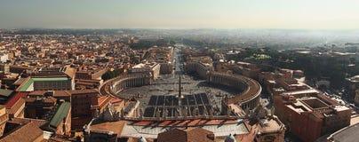 Panoramisch von der Vatikanstadt lizenzfreies stockbild