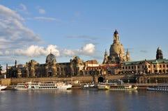 Panoramisch von Dresden Stockfotografie