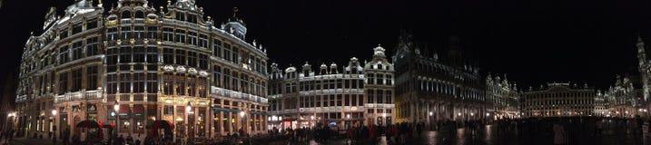 Panoramisch von Grand Place im Brüssel, Belgien Stockbild
