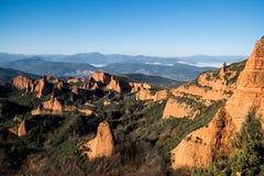 Panoramisch von Las Médulas stockfoto