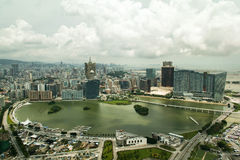 Panoramisch von Macao-Stadt von Macao-Turm Lizenzfreie Stockfotografie