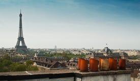 Panoramisch von Paris lizenzfreie stockfotos