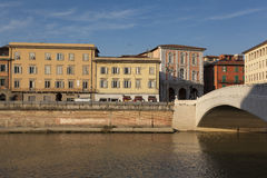 Panoramisch von Pisa stockfotografie