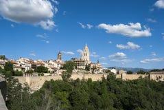 Panoramisch von Segovia, Spanien. lizenzfreies stockfoto