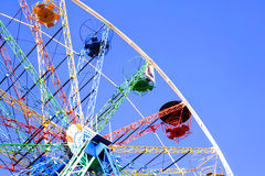 Panoramisch Wiel op een blauwe hemelachtergrond outdoors stock afbeeldingen