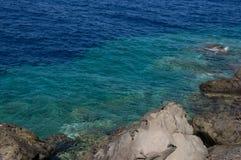 Panoramisch zeegezicht van water Royalty-vrije Stock Foto