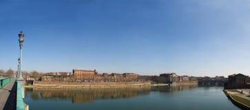 Panoramische Abbildung Toulouse-Stadt in Frankreich Lizenzfreies Stockfoto