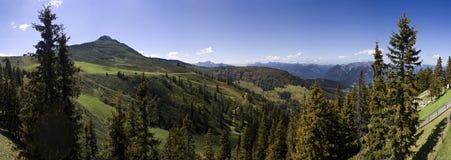Panoramische alpen Stock Afbeelding