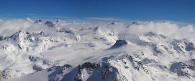 Panoramische Alpenansicht lizenzfreie stockbilder