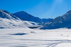 Panoramische Alpes Ansicht Stockbild