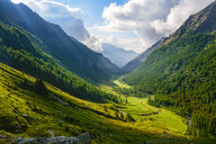 Panoramische Alpes Ansicht Stockfotos