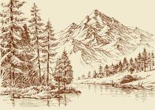 Panoramische Alpes Ansicht vektor abbildung
