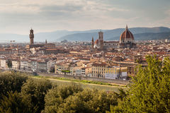 Panoramische Ansicht über Florenz, Toskana, Italien stockfotos