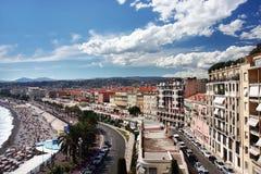 Panoramische Ansicht über Nizza Lizenzfreies Stockfoto