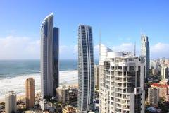 Panoramische Ansicht über Surfer-Paradies Stockfotografie