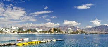 Panoramische Ansicht über Aqaba-Golf, Eilat, Israel Lizenzfreie Stockfotografie