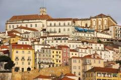 Panoramische Ansicht Coimbra portugal lizenzfreie stockbilder