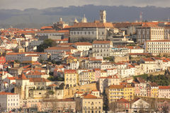 Panoramische Ansicht Coimbra portugal stockfoto