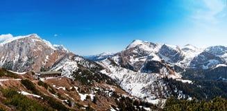 Panoramische Ansicht der österreichischen Alpen Lizenzfreie Stockbilder