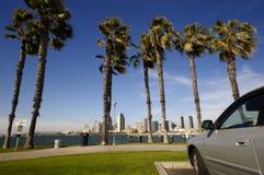 Panoramische Ansicht der Diego-Skyline Stockfotografie