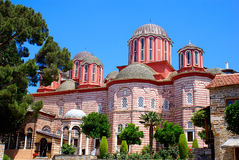Panoramische Ansicht der historischen Kirche Stockbilder