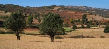 Panoramische Ansicht der Landschaft nahe Pindaya Lizenzfreie Stockfotografie