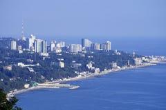 Panoramische Ansicht der Stadt Stockfoto