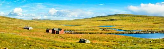 Panoramische Ansicht der szenischen Landschaft in Norwegen Stockbilder
