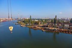 Panoramische Ansicht der Werft Lizenzfreies Stockbild