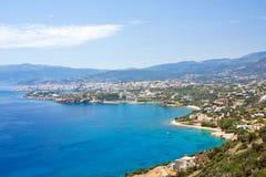 Panoramische Ansicht des Agios Nikolaos Stockbild