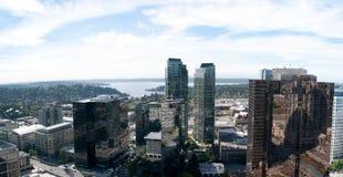 Panoramische Ansicht des Bellevue Kontrollturms Lizenzfreie Stockbilder