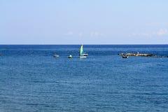 Panoramische Ansicht des Meeres stockfotografie