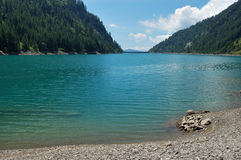 Panoramische Ansicht des Sommers von alpinem Stockfotografie