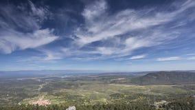 Panoramische Ansicht eines Tales Stockbild