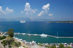 Panoramische Ansicht Korfu Lizenzfreies Stockfoto